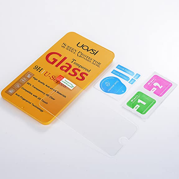 Amazon.com: iPhone 8/iPhone 7 Screen Protector,UOVSI Tempered Glass Screen Protector 3D Touch Compatible Transparent HD 2.5D Round Edge Ultra-thin for ...