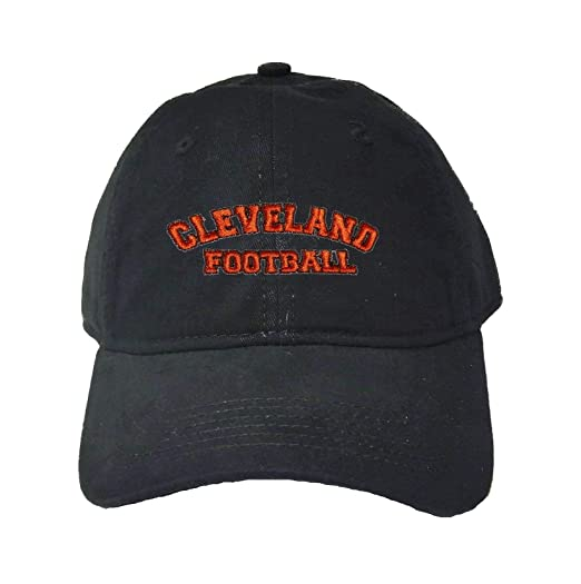 fa7ec9eb Go All Out Adjustable Black Adult Cleveland Football Embroidered Deluxe Dad  Hat