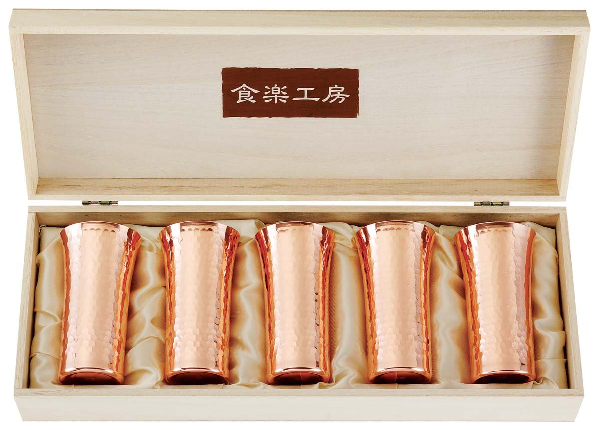 Comfort food studio pure copper hammer eye sip beer 5PC set CNE925 (japan import)