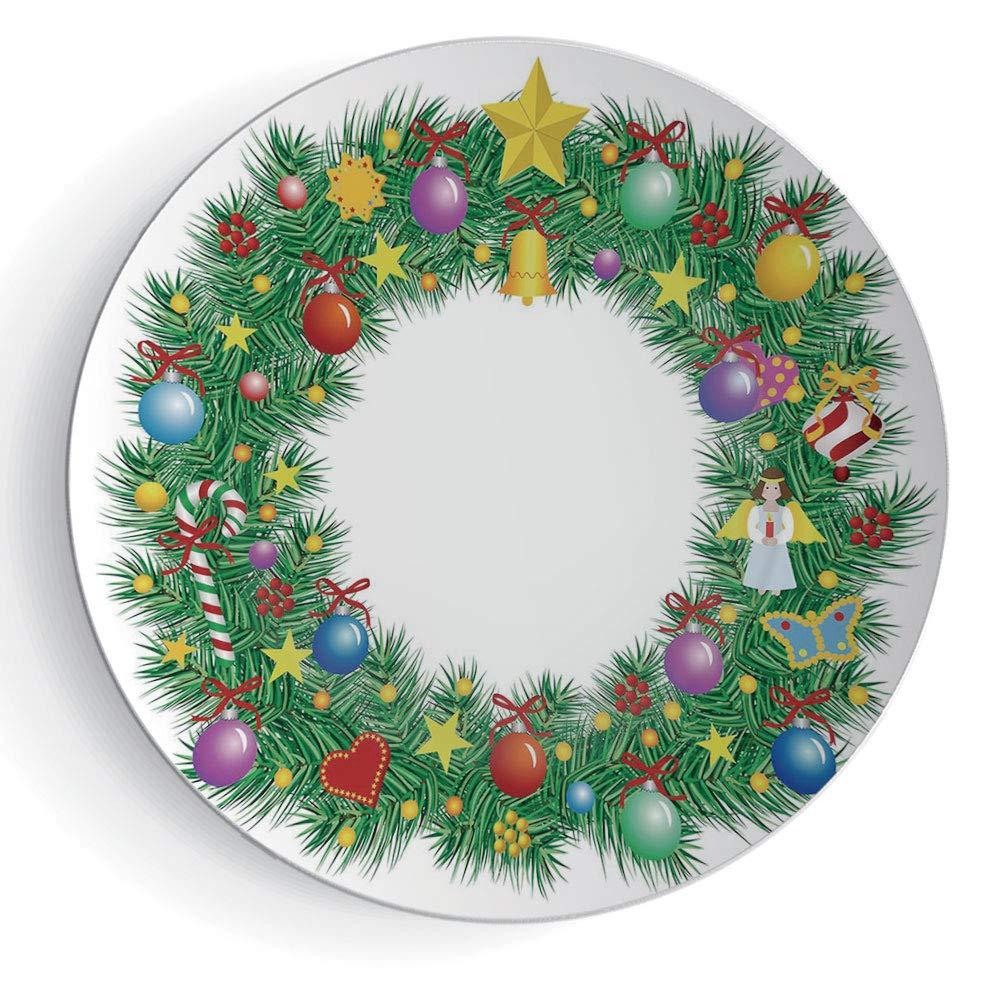 Christmas wreath circle. Amazon com iprint letter