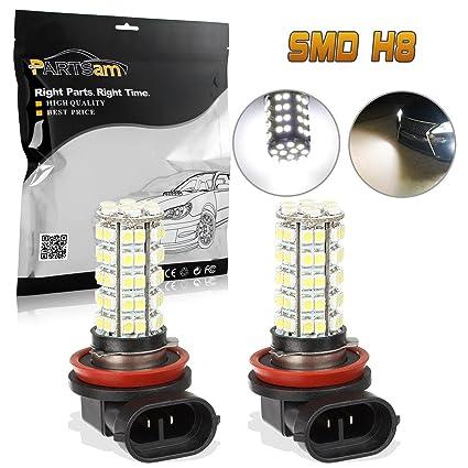 Amazon.com: Partsam Car White LED H8 H11 Fog Driving Bulb Light Lamp ...