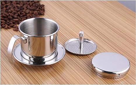 bournetech café vietnamita pour over Filtro de goteo, papel libre portátil cafetera eléctrica