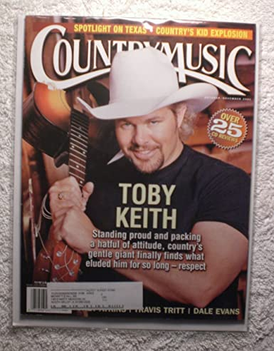 Toby Keith Country Music Magazine Octobernovember 2001 Cmm1