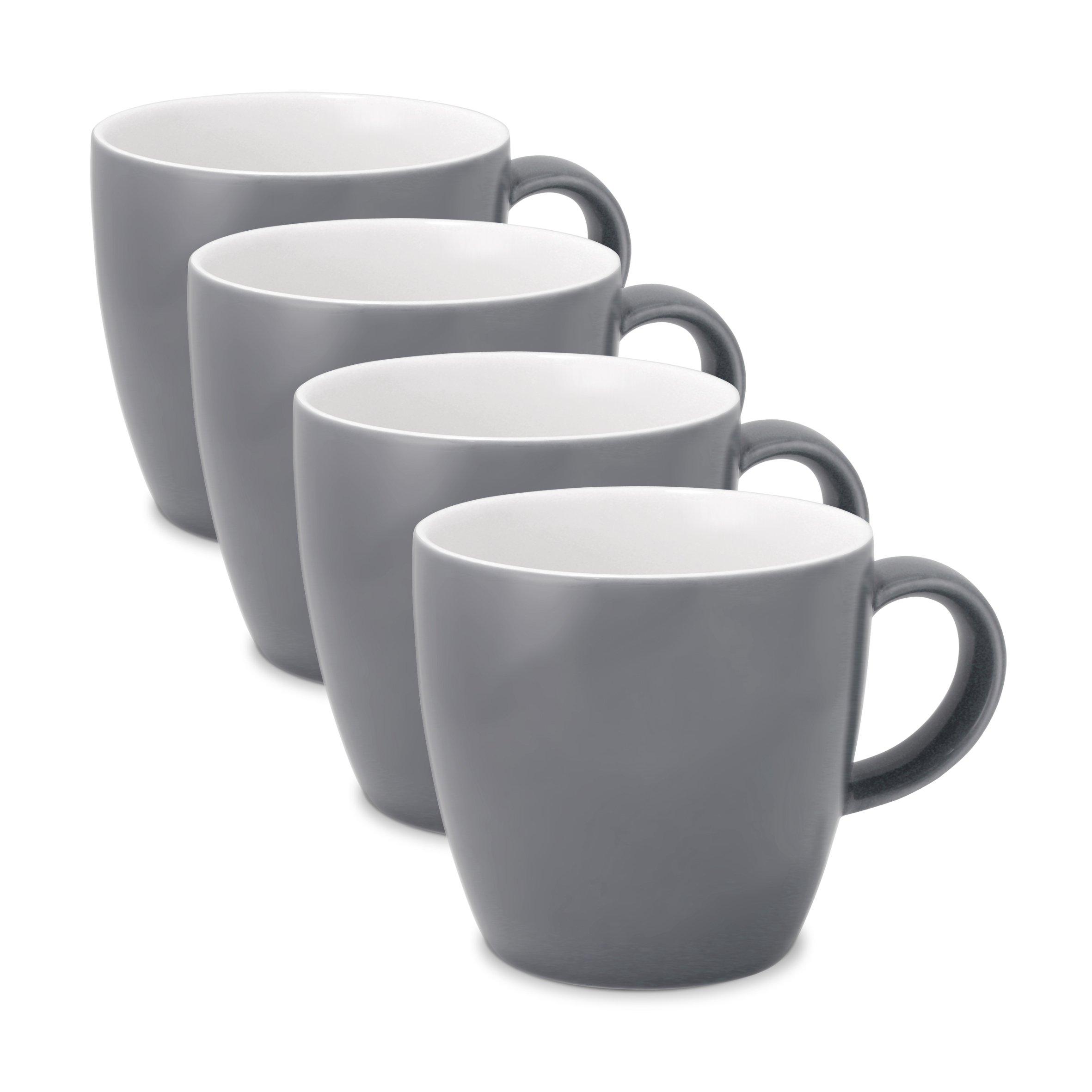 FORLIFE Uni Espresso/Oolong Tea Cup (Set of 4), 3.5 oz., Gray
