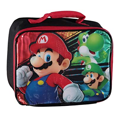 Nintendo Mario 3D Character Lunch Bag, Multicolor, One Size: Toys & Games