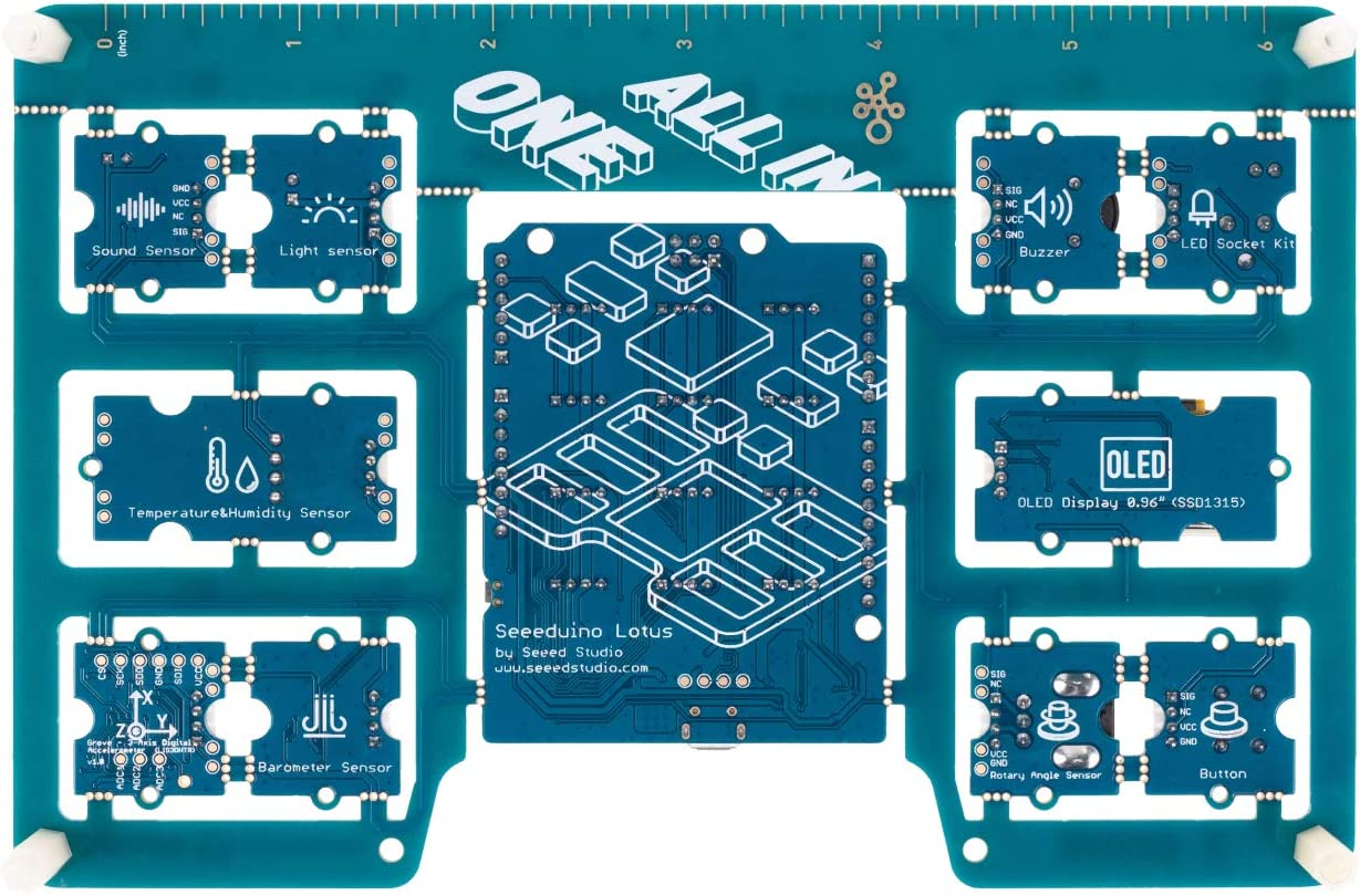 All-in-one Arduino UNO Compatible Board with 10 Sensors and 12 Projects for Beginner and STEAM Education seeed studio Grove Beginner Kit for Arduino