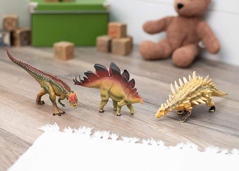 Class Collections Stegosaurus and Kentrosaurus T-Rex Dinosaur Figure Childrens 8 inch 3 Piece Playset