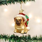Old World Christmas Ornaments: Holly Hat Pug