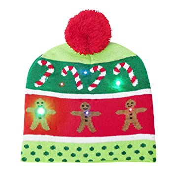 kids baby christmas hats beanie boys girls cap cotton knitted ball warm party hat green