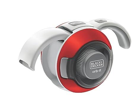 Black+Decker ORB48RDN - Robot aspirador, 4.8 W, color gris y rojo