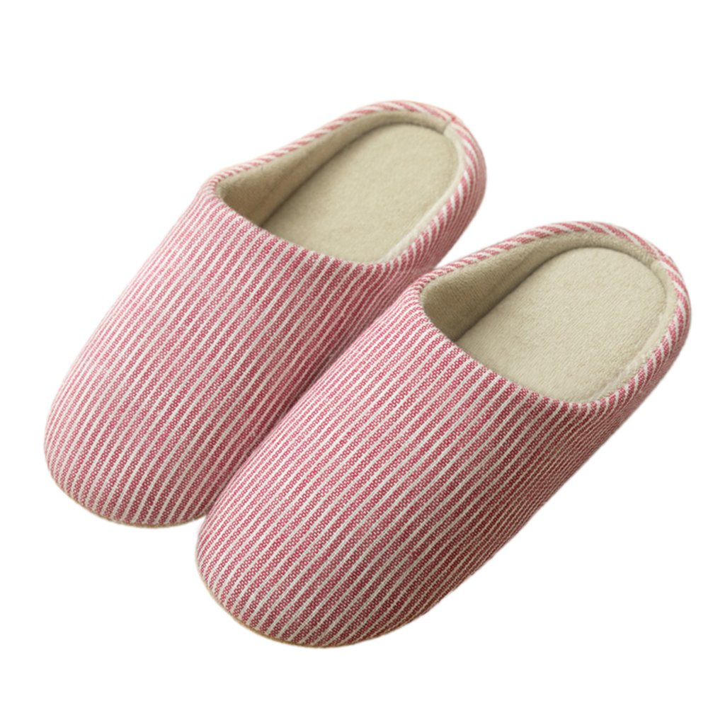 Oumanke Women and Men Slippers for Indoor House Hotel Traveling Red M/Women US7-8