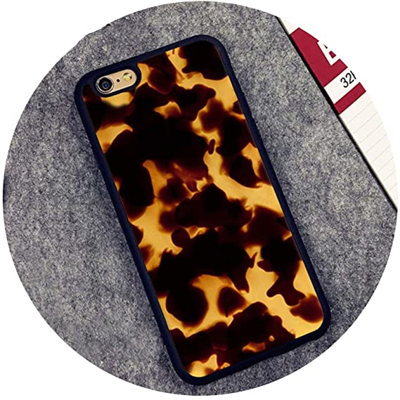 huge selection of 75e9c 9b0f5 Amazon.com: Tortoise Shell Marble Pattern Rubber Phone Case for ...