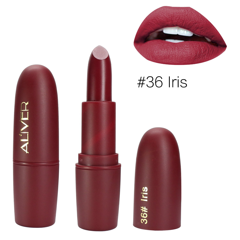 Matte Lipstick, ALIVER 6 Colors Lipstick Set, Long Lasting Lipstick, Nude and Natural Dark Matte Lipstick Non-Stick Cup for Lips Makeup by ALIVER (Image #5)