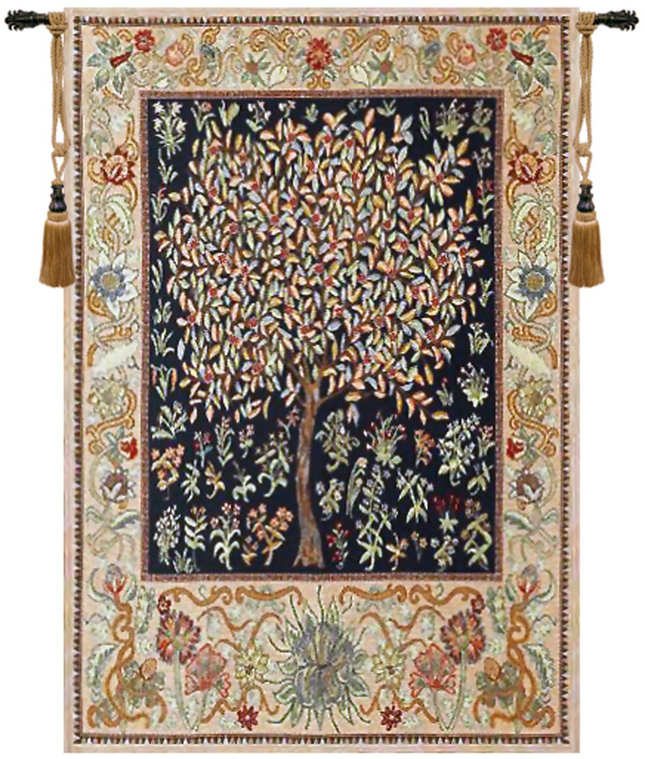 Pastel Tree of Life Belgian Tapestry by Charlotte Home Furnishings Inc.