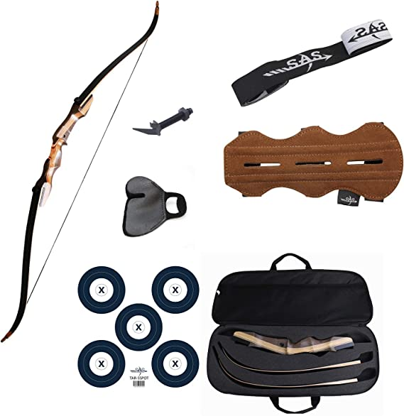 Southland Archery Supply SAS Sage Take Down Recurve Bow Combo Package Kit with Case