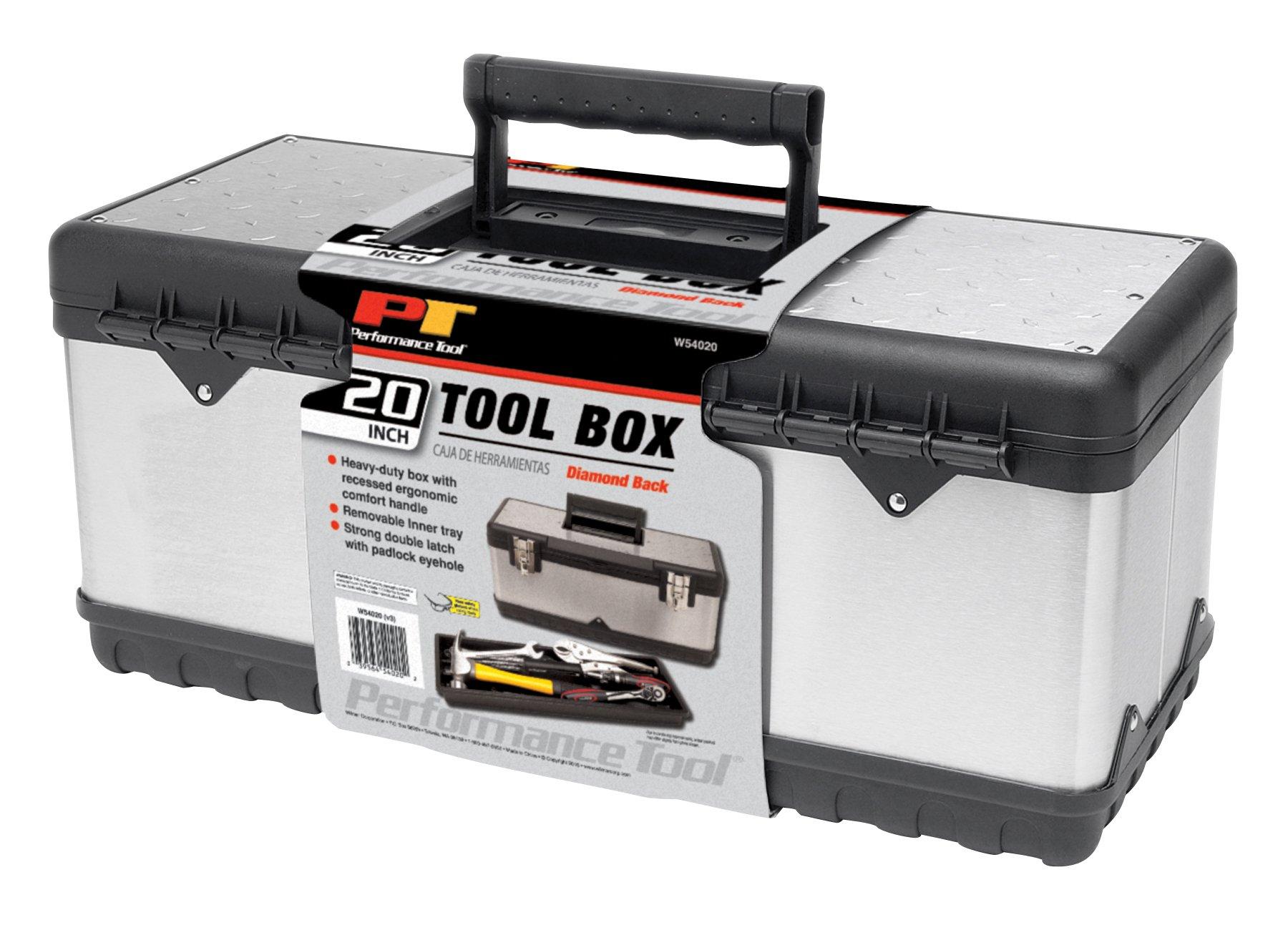 Performance Tool W54020 Steel Tool Box, 20''