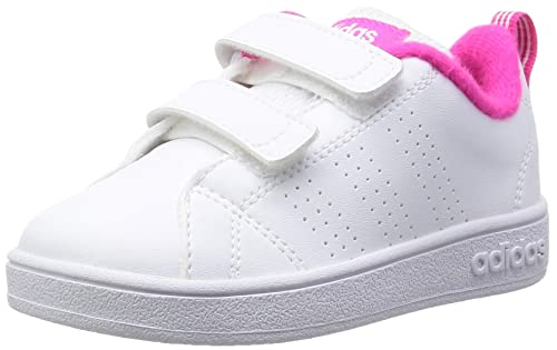 fd08584e265 adidas VS Advantage Clean CMF INF - Trainers for Babies-Boys, 23, White