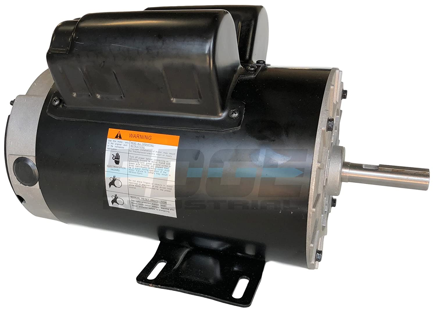 NEW 3.7 HP Compressor Duty Electric Motor, 3450 RPM, 56 Frame, 5/8 Shaft Diameter, 17.2 FLA at 230 VOLT - - Amazon.com