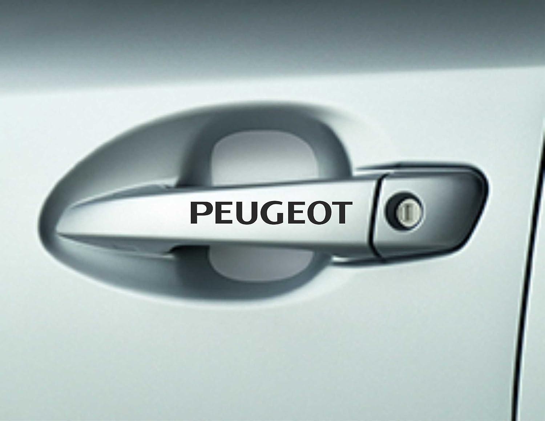 Lot de 6autocollants de poignée de porte haute qualité pour voiture Peugeot 106 107