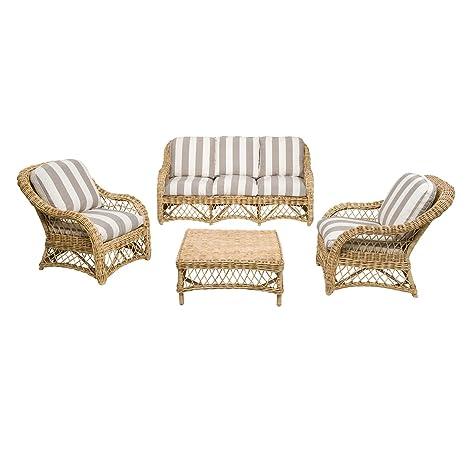 Rotin Design REBAJAS : -53% Salon de ratan Kingston: 1 sofa ...