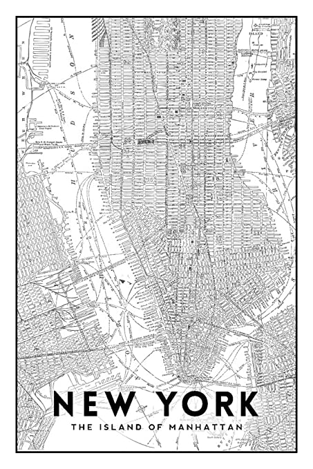 Free Printable Map Of New York City.Amazon Com New York City New York Manhattan Map Black And