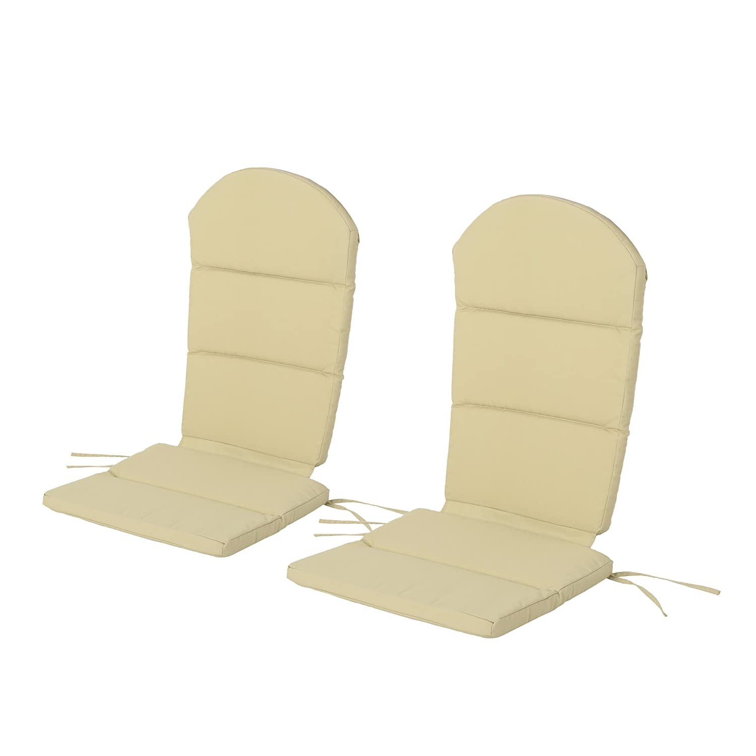 Christopher Knight Home 304637 Terry Outdoor Adirondack Chair Cushion (Set of 2), Khaki