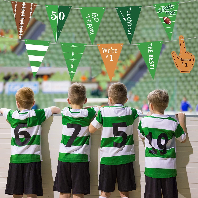 Amazon.com: Banderas de fútbol para decoración de fiestas de ...