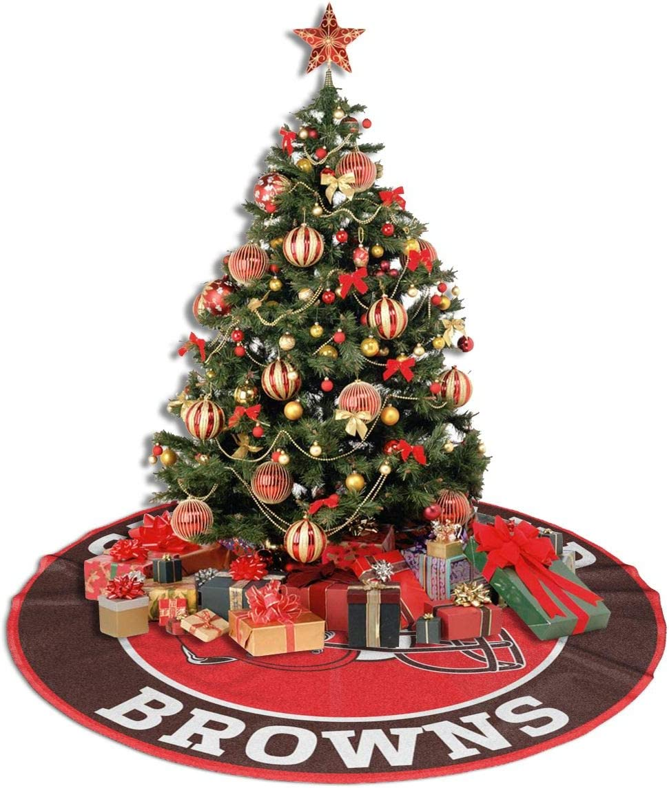 Cramnrgt San Francisco-49ers Christmas Tree Skirt Mat Xmas Tree Skirt Holiday Party Decoration 30