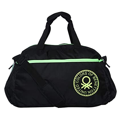 United Colors of Benetton Duffle Bag Polyester 56 cms Black N Green Travel  Duffle (0IP6AMDBNT01I)  Amazon.in  Bags 66bb782492156