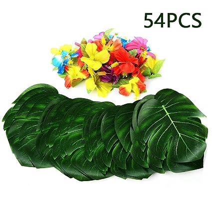 Amazon Com Uhbgt Palm Leaves Hawaiian Luau Theme Party Decorations