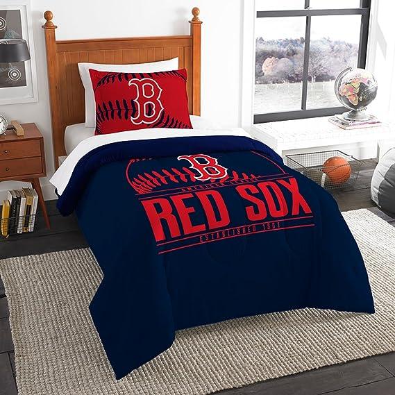Amazing Amazon.com : The Northwest Company Boston Red Sox Twin Comforter Set :  Sports U0026 Outdoors