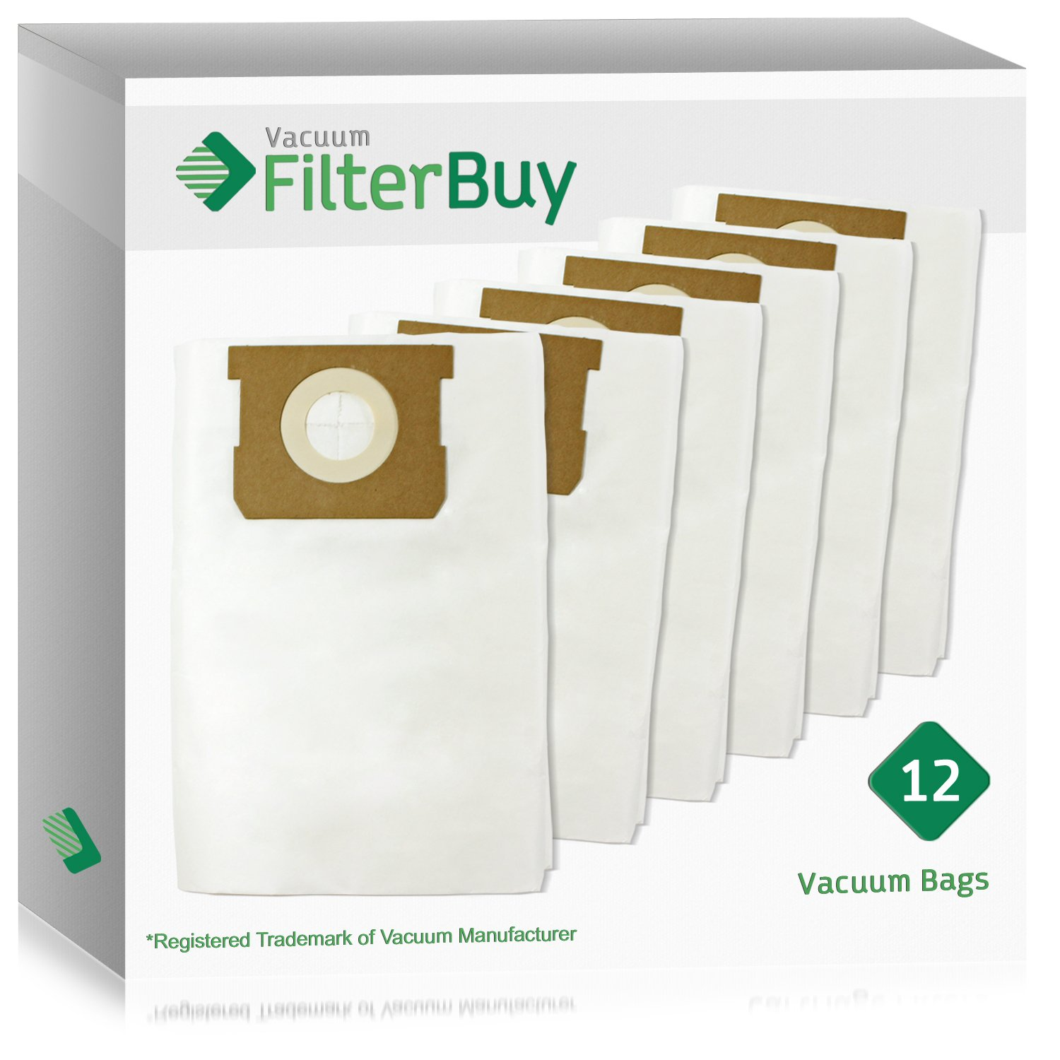 12 - FilterBuy VacMaster Compatible Dust Bags. Designed by FilterBuy to fit VacMaster & Shop-Vac Vacuum Cleaners.