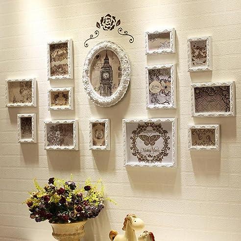 Holzschnitzerei Muster Weiß Bilderrahmen Wand Galerie Kit Beinhaltet  Hanging Hardware Installationsanleitung . 13