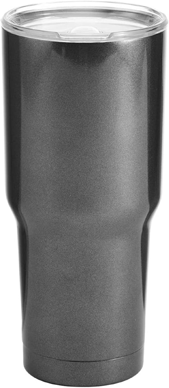 BYO Double Wall Stainless Steel Vacuum Insulated Tumbler, 30-Ounce, Metallic Charcoal
