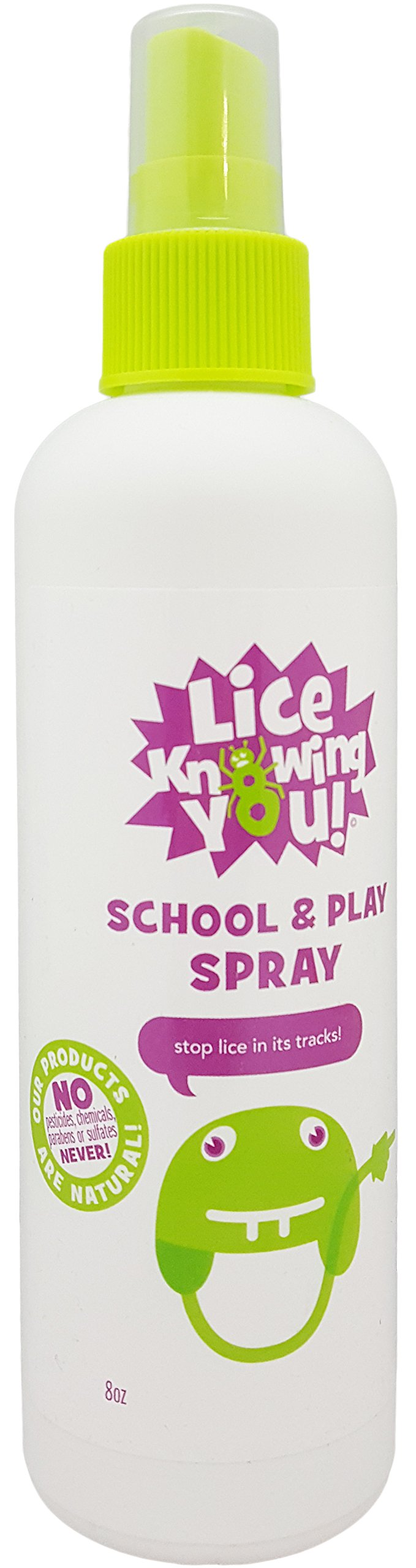 Lice Knowing You School and Play Spray 8 oz NEW
