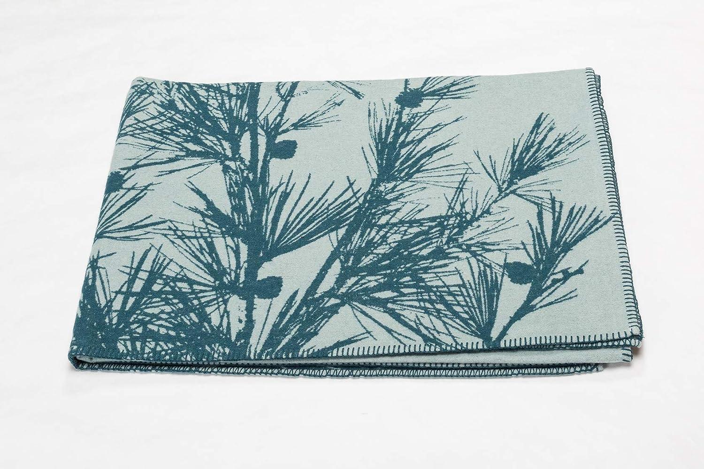 David Fussenegger Wohndecke Sylt Zweige 140 x 200 cm Glasgrün