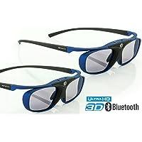 """2X Hi-Shock RF Pro""""Deep Heaven""""   3D Glasses for FullHD/HDR /4k Sony & JVC 3D Projector   VPL-HW65ES, 45ES, VW365, VW350, VW500, TDG-BT500A, X105-RF-X1   JVC RS 400 etc   PK-AG3, PK-EM2"""