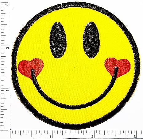 Amazon.com: Cara sonriente Emoji Corazón Dibujos Animados ...