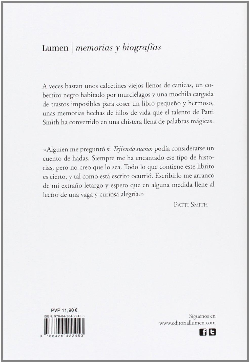 Tejiendo sueños / Woolgathering (Spanish Edition): Patti Smith: 9788426422453: Amazon.com: Books