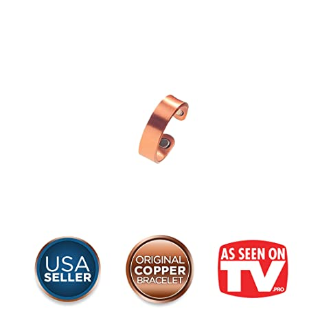 aabef98f59 Buy Earth Therapy Magnetic Therapy Copper Finger Ring - 2 Arthritis Magnets  Online at Low Prices in India - Amazon.in