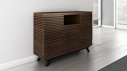Furnitech 47u0026quot; Mid Century Modern Media Storage Dresser