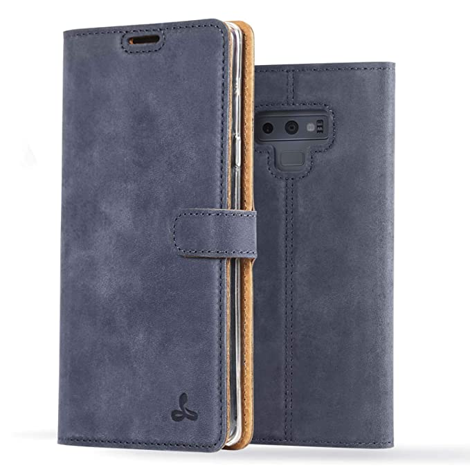 detailing d44c2 c44dc Samsung Galaxy Note 9 Case, Luxury Genuine Leather Wallet with Viewing  Stand and Card Slots, Flip Cover Gift Boxed and Handmade in Europe by  Snakehive ...