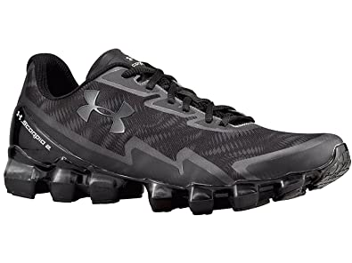 8c8701168b1 Under Armour Men's UA Scorpio 2 Running Shoes 7.5 Black: Amazon.co ...