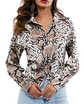 Joe Wenko Men Turn Down Classical Long Sleeve Printed Button Down Shirts
