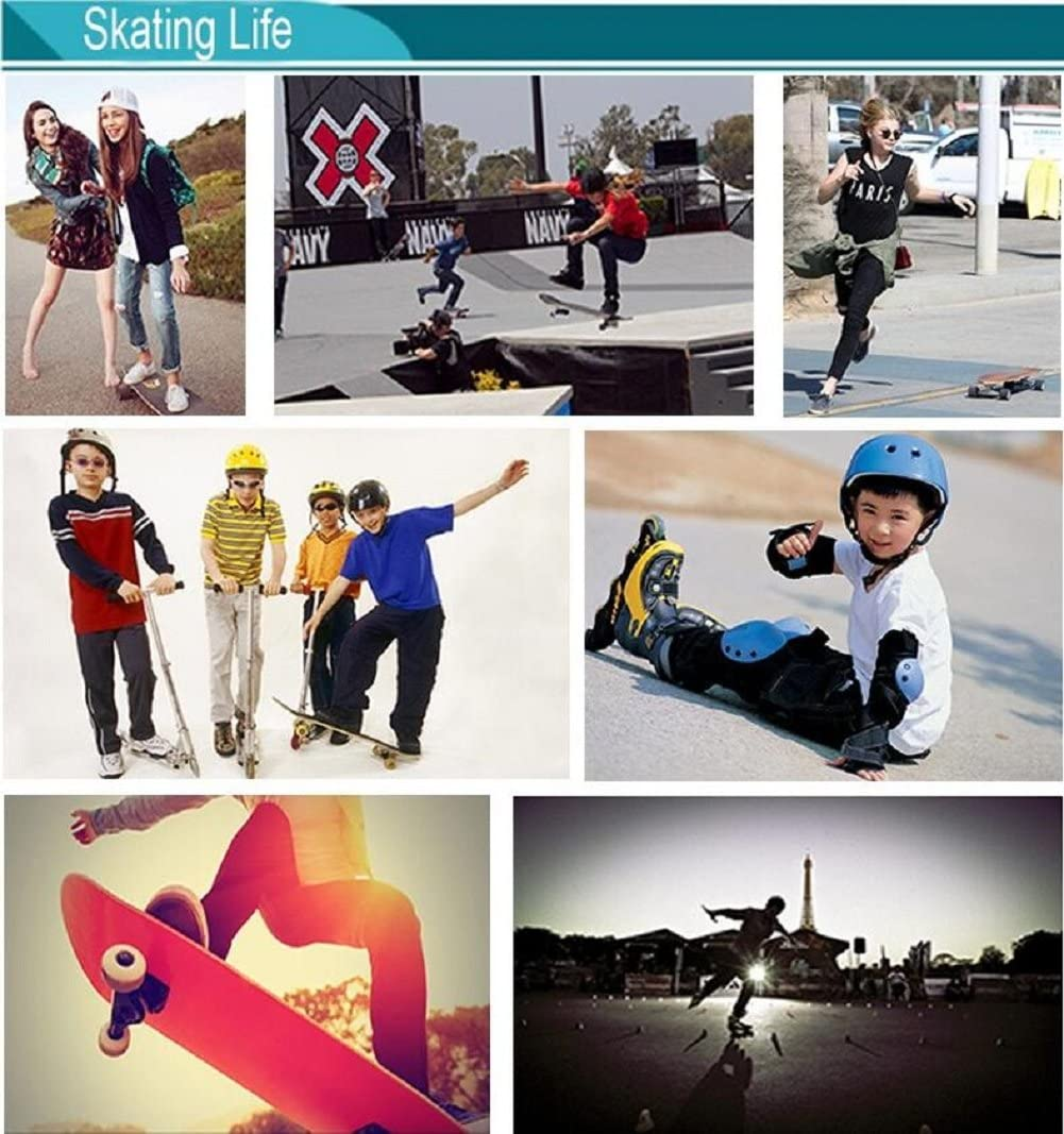 cheap4uk 8/608ZZ Bearings Skateboard Bearings Longboard Roller Skate Scooter Kugellagern Deep Groove Kugellager 8/x 22/x 7/mm? rot Silber doppelt geschirmt