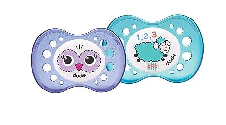 Dodie A2 - Chupete dúo, diseño noche cordero/lechuza: Amazon ...