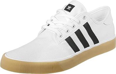 adidas Seeley Decon Chaussures de Skateboard Homme, Blanc