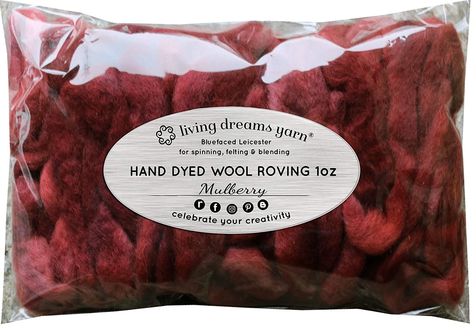 Wool Roving Hand Dyed Wall Hangings and Embellishments Super Soft BFL Combed Top Pre-Drafted for Easy Hand Spinning 4 Ounce Weaving Artisanal Craft Fiber ideal for Felting Brown Rust
