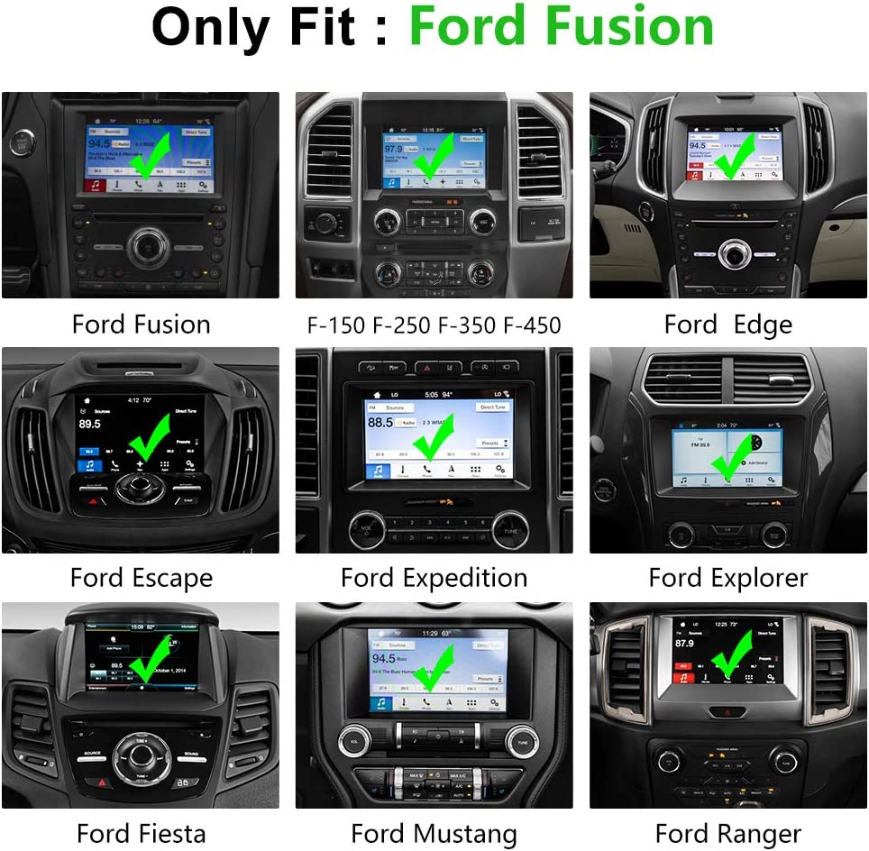 J/&D Compatible for 2013-2020 Ford Fusion//2015-2020 Ford Edge//2018-2020 Ford Expedition//2015-2020 Ford Mustang 8 inch Car Navigation Screen Protector HD Clear Glass Protector 1-Pack Tempered Glass