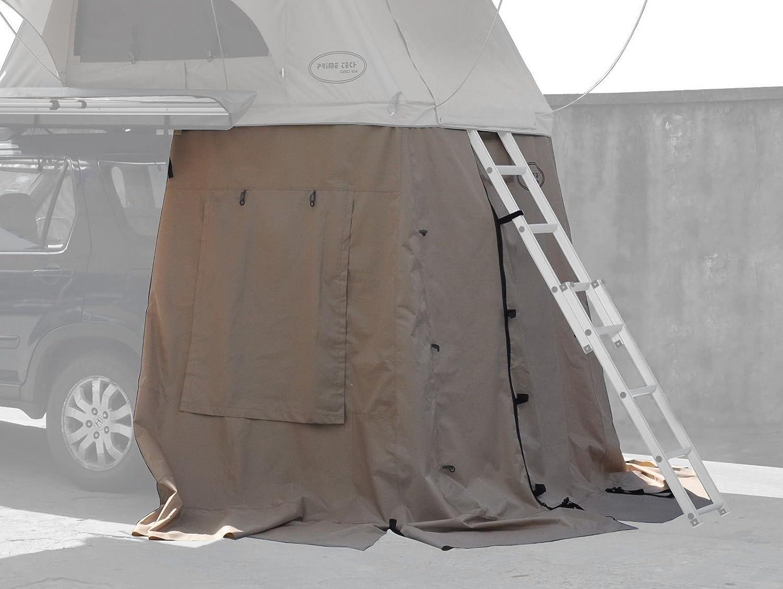 Prime Tech Vorzelt 140x120x200 cm zum Autodachzelt WASTELAND in beige